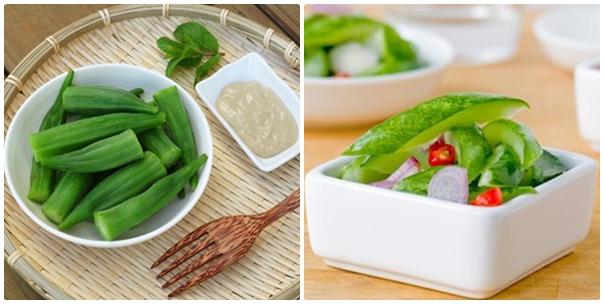 Làm sao để giảm béo mặt? Thực hiện chế độ ăn với rau xanh