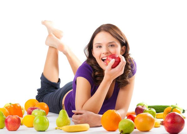 Ăn nhiều hoa quả và rau xanh để giảm cân nhanh