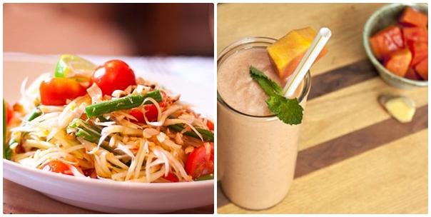 Chế biến các món ăn và đồ uống với đu đủ để giảm béo một cách hiệu quả