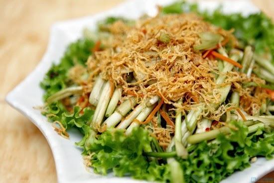 Thức ăn giảm béo tại nhà với gỏi rau cần