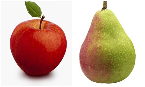 Giảm béo bụng tại nhà bằng táo và lê