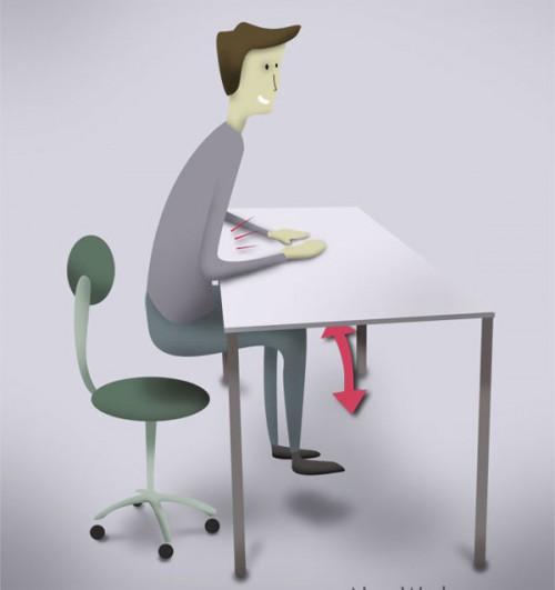 Thực hiện những bài tập giảm béo ngay tại chỗ ngồi của mình