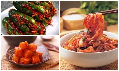 Kim chi - Một trong các món ăn giảm mỡ bụng của người Hàn