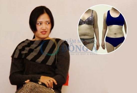 Chị Nguyễn Hải Lý, Nghệ An giảm 23 cm vòng bụng và eo