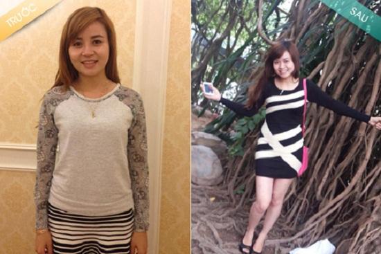 Kết quả sau khi giảm béo của chị Xuân, giảm tới 17cm vòng 2
