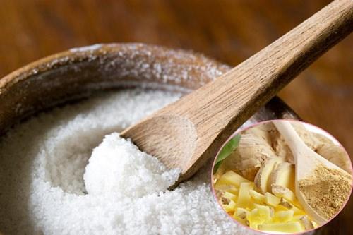 Cách giảm mỡ bụng sau sinh bằng gừng + muối