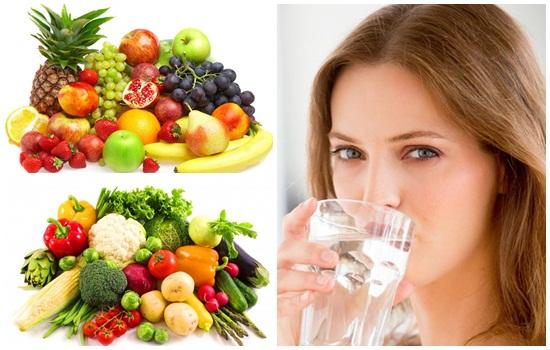 Chế độ ăn uống giúp giảm béo mặt tự nhiên