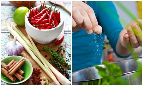 Thêm gia vị vào thức ăn để kích thích giảm béo bụng