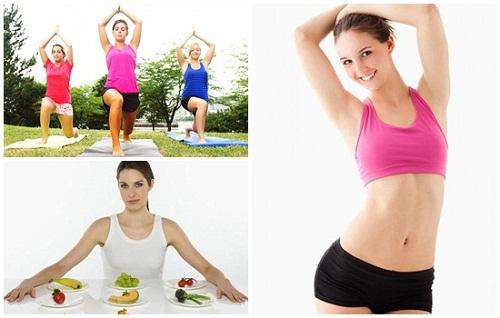 Tập luyện kết hợp ăn kiêng để được vóc dáng thon gọn hơn