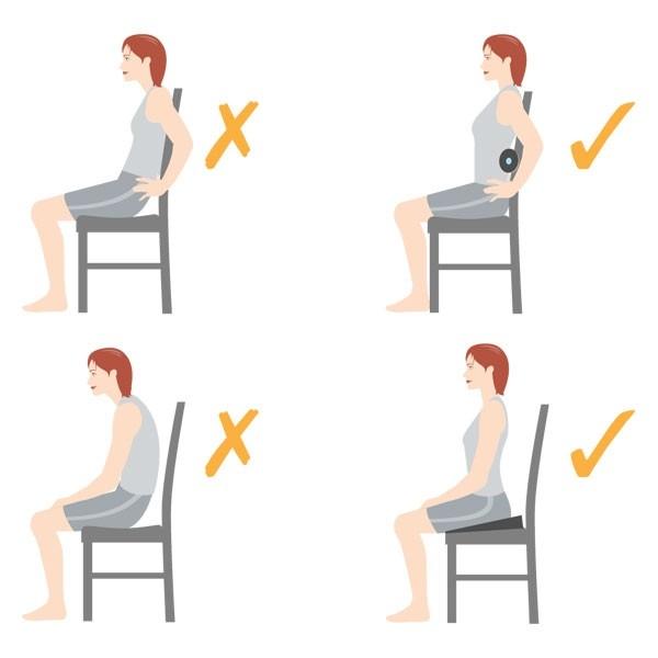 Tư thế ngồi đúng giúp giảm mỡ bụng