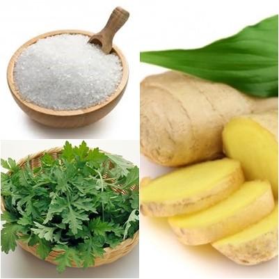 Công thức giảm béo bụng từ muối với ngảu cứu, gừng là phương pháp dân gian quen thuộc