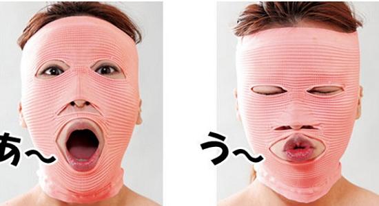 Giảm béo mặt với các dụng cụ nẹp mặt, mặt nạ