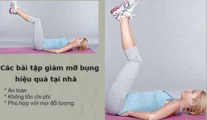 Bài tập giảm mỡ bụng nhanh nhất mà không cần đến phòng tập gym