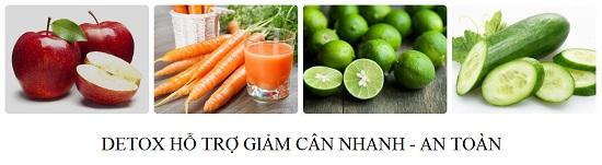 Nước uống detox hỗ trợ giảm cân nhanh