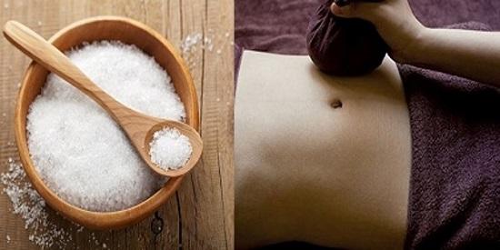 Giảm mỡ bụng bằng muối rang nóng giúp mỡ nhanh chóng bị hóa lỏng