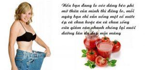 Đẹp dáng sáng da với bí quyết giảm cân bằng cà chua