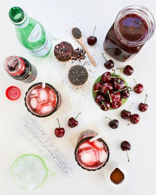 Hạt chia và quả cherry vô cùng tốt trong việc giảm béo