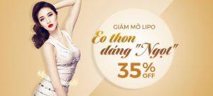 """GIẢM MỠ LIPO – EO THON DÁNG """"NGỌT"""" OFF 35%"""
